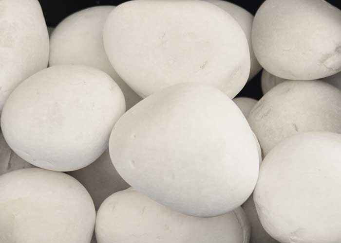 2 1-2 White Marble Pebble